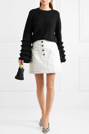 Marr fringed ribbed-knit sweater