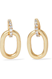 Tiny Beaumont 10-karat gold diamond earrings