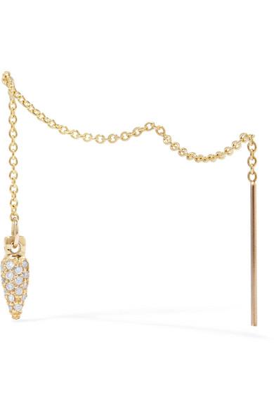 suspension 10karat gold diamond earrings 560 zoom in
