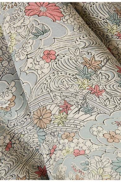 Elizabeth and James Drew Jacke aus Chiffon mit floralem Print