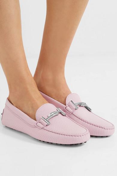 Tod's Gommino verzierte Loafers aus Leder mit Eidechseneffekt Auslass Footlocker Bilder Billiges Countdown-Paket Rabatt Zahlung Mit Visa Freies Verschiffen Mode-Stil 2BQr7u70aT