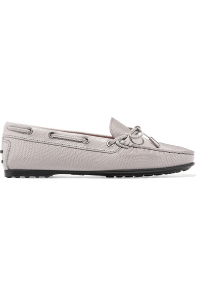 Tod Gommino Loafers In Leather With Lizard-effect