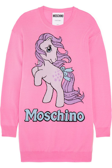 Moschino - My Little Pony Intarsia Wool Mini Dress - Pink