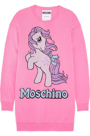 + My Little Pony intarsia wool mini dress