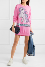 Moschino + My Little Pony intarsia wool mini dress