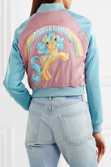 Moschino + My Little Pony Bomberjacke aus Lurex® mit Applikationen Billigste Zum Verkauf Die Billigsten Frei Verschiffen Angebot eA5yE6juR