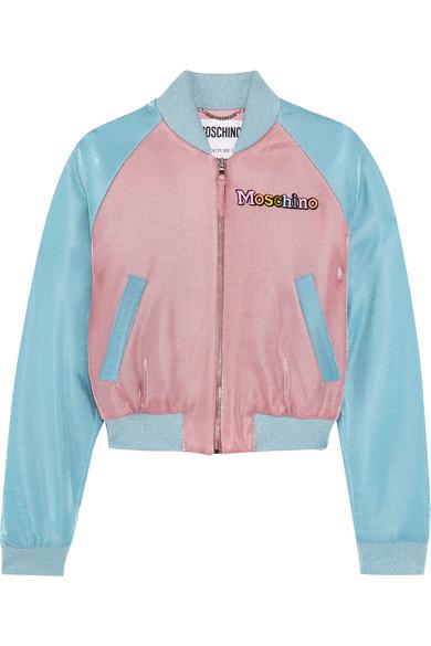 Moschino - My Little Pony Appliquéd Lurex Bomber Jacket - Blue