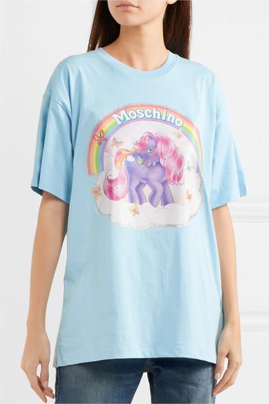 Moschino + My Little Pony bedrucktes T-Shirt aus Baumwoll-Jersey