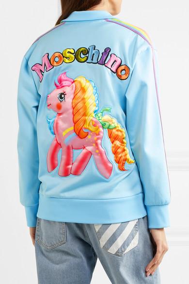 Moschino + My Little Pony Sweatshirt aus Jersey aus einer Baumwollmischung mit Stickerei