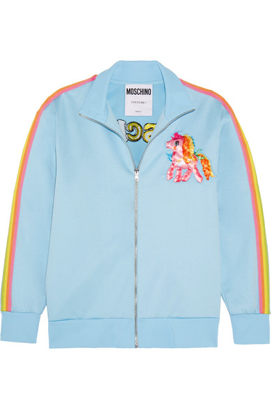 Moschino | + My Little Pony embroidered cotton-blend jersey sweatshirt |  NET-A-PORTER.COM
