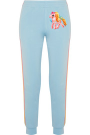 + My Little Pony appliquéd cotton-blend jersey track pants