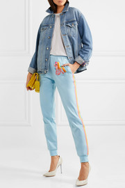 Moschino + My Little Pony appliquéd cotton-blend jersey track pants