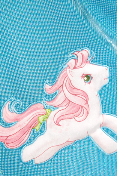 Moschino + My Little Pony Minirock aus Lurex mit Applikationen