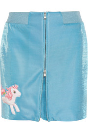 + My Little Pony appliquéd Lurex mini skirt