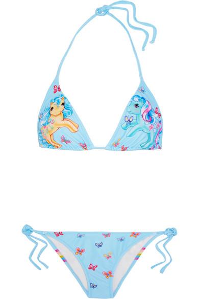 Moschino - My Little Pony Printed Triangle Bikini - Blue