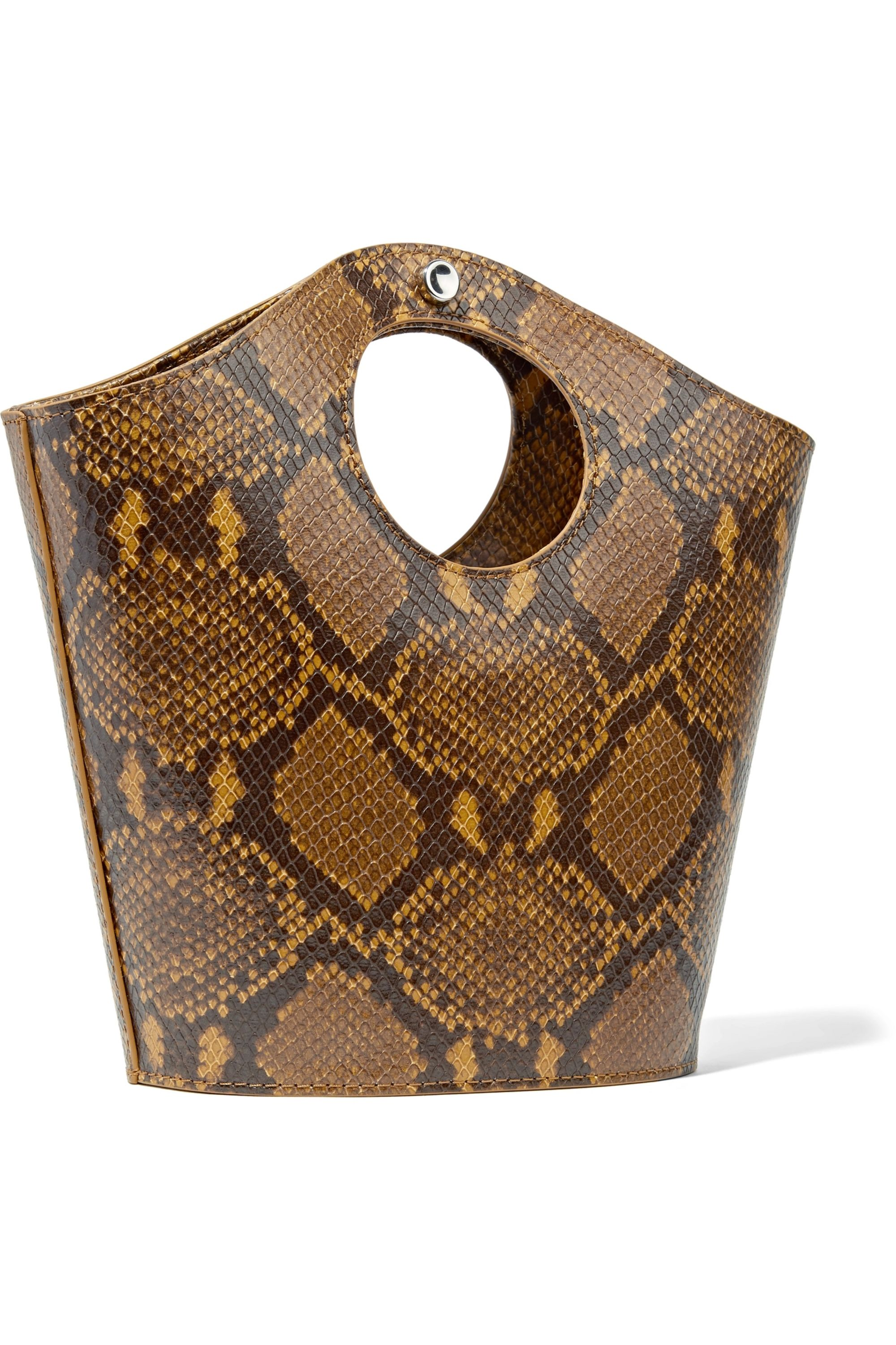 Elizabeth and James Market Shopper small snake-effect leather tote