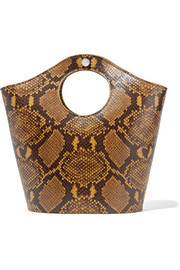 Market Shopper small snake-effect leather tote