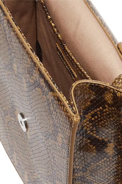 Elizabeth and James Eloise Schultertasche aus Leder mit Schlangeneffekt