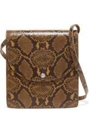 Eloise snake-effect leather shoulder bag