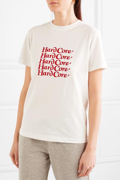 ALEXACHUNG Bedrucktes T-Shirt aus Baumwoll-Jersey