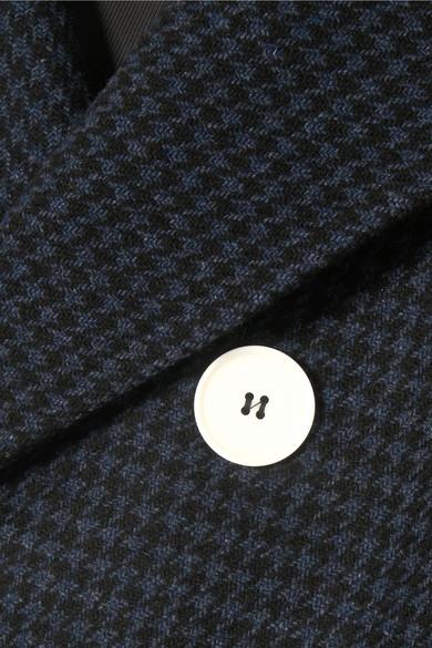 ALEXACHUNG Doppelreihiger Blazer aus Filz aus einer Wollmischung mit Hahnentrittmuster