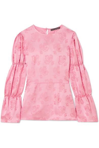 ALEXACHUNG Bluse aus floralem Jacquard