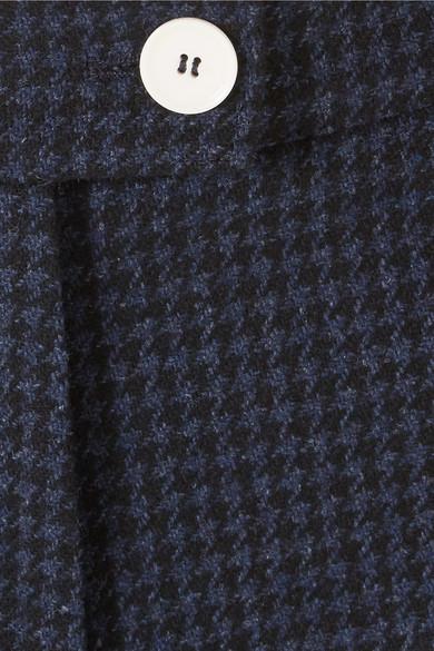 ALEXACHUNG Hose aus Filz aus einer Wollmischung mit Hahnentrittmuster