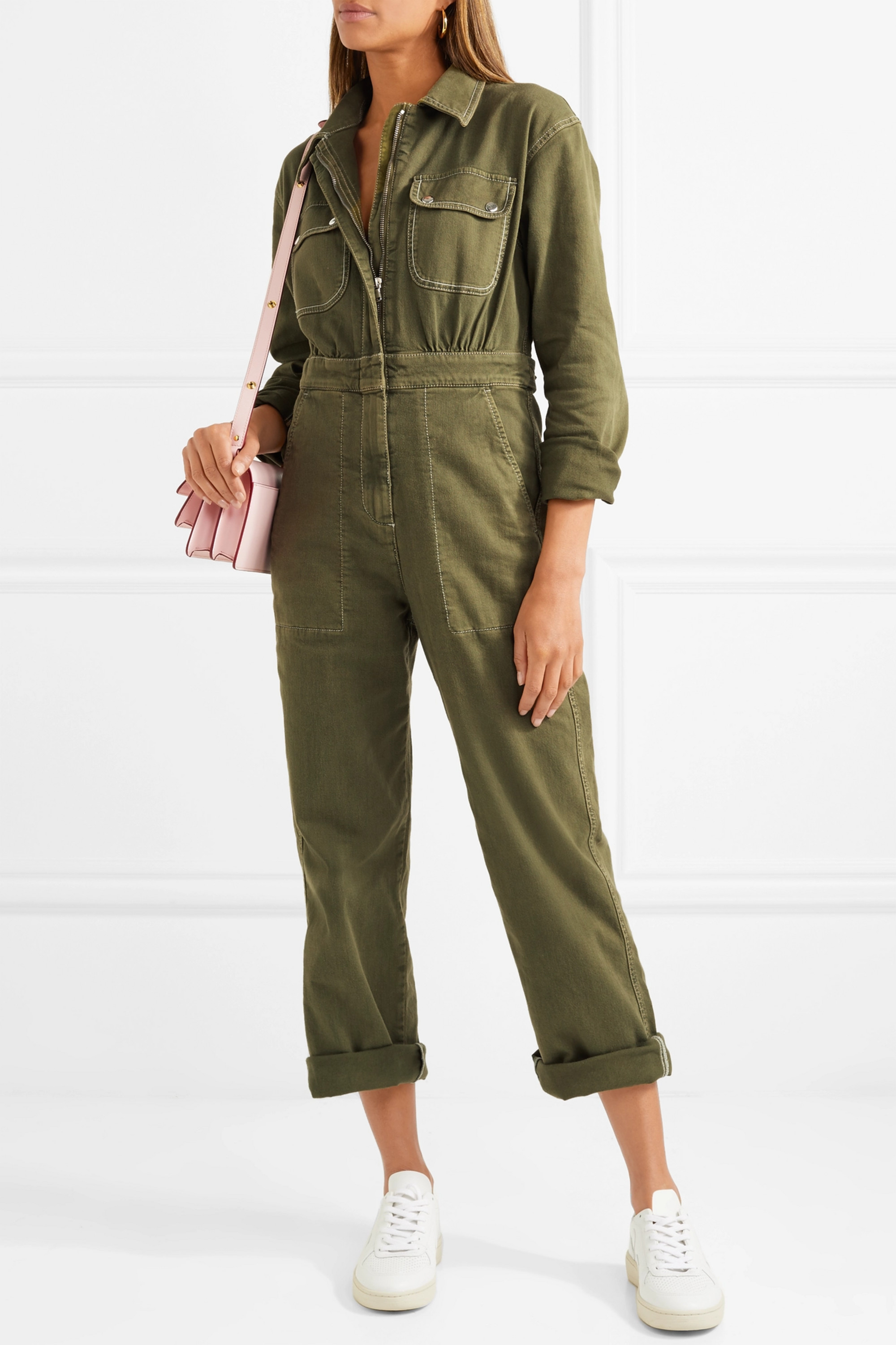 ALEXACHUNG Denim jumpsuit