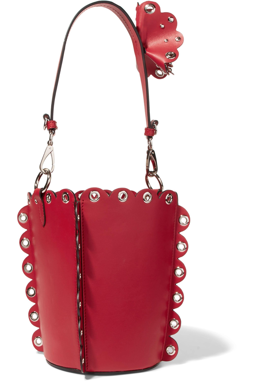 Miu Miu Embellished leather bucket bag