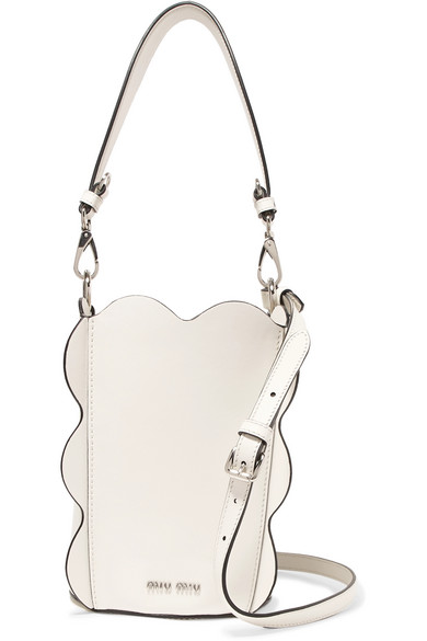 Miu Miu - Leather Bucket Bag - White