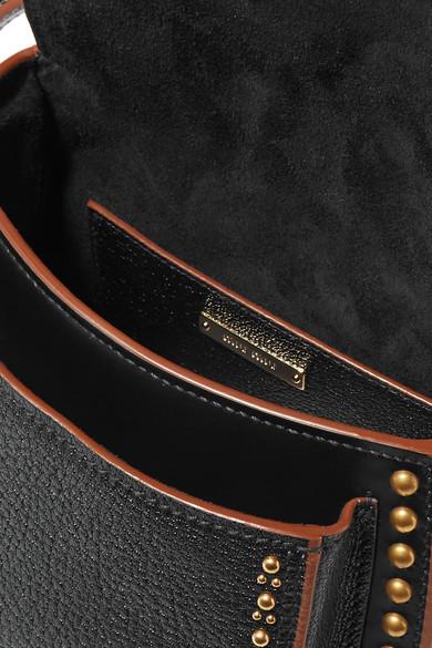 Miu Miu Dahlia verzierte Schultertasche aus strukturiertem Leder