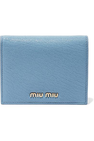 Miu Miu Portemonnaie aus strukturiertem Leder