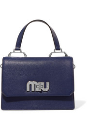 Miu Miu My Miu textured-leather and suede tote
