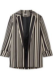 Neta striped cotton-blend blazer