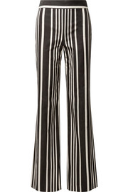 Alice + Olivia Johanna striped cotton-blend wide-leg pants