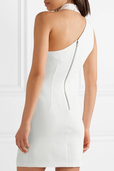 Alice + Olivia Soshana Minikleid aus Crêpe mit asymmetrischer Schulterpartie