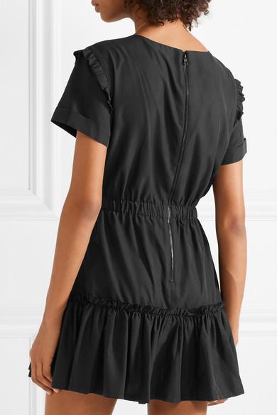 Alice + Olivia Garner Minikleid aus einer Modalmischung mit Rüschen