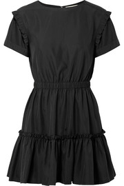 Alice + Olivia Garner ruffle-trimmed modal-blend mini dress