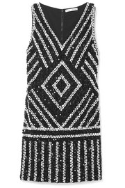 Alice + Olivia Venetia sequined crepe mini dress