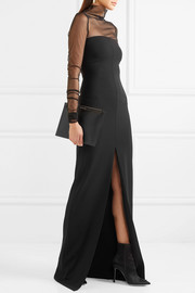 Solace London Bysha stretch-crepe maxi dress