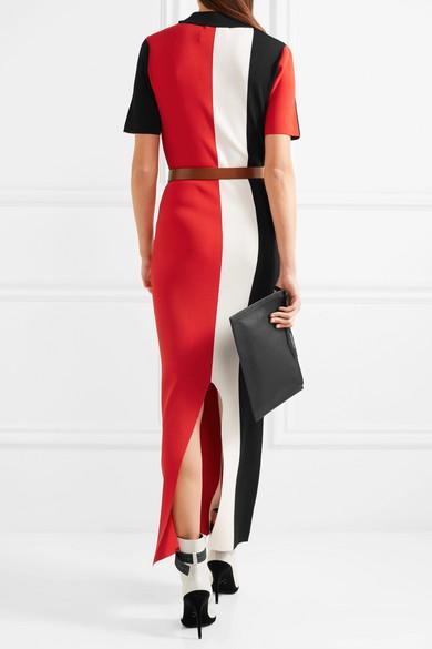 Solace London Clemence Kleid aus Stretch-Strick in Colour-Block-Optik