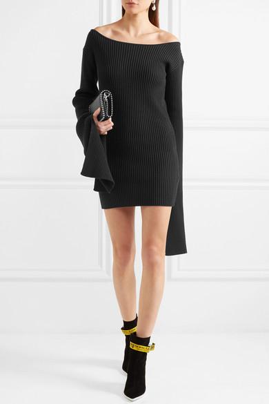 Solace London Eila Minikleid aus einer Baumwollmischung in Rippstrick