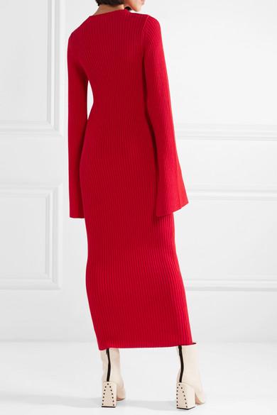 Solace London Celina Maxikleid aus einer gerippten Baumwollmischung