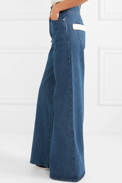 Solace London Nora hoch sitzende Jeans mit weitem Bein