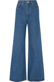 Nora high-rise wide-leg jeans