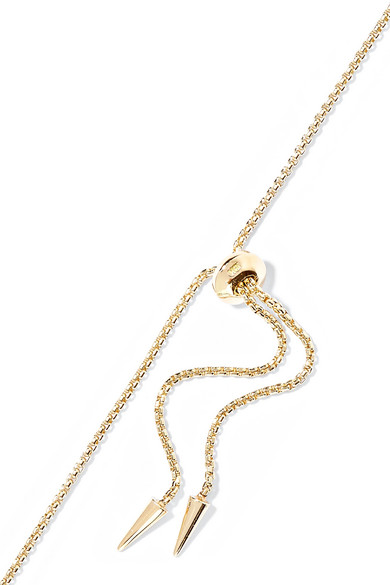 Jemma Wynne 18-karat Rose Gold Diamond Necklace