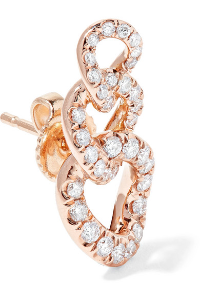 Jemma Wynne 18-karat Rose Gold Diamond Earrings 7gvZz