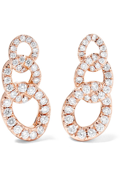 Jemma Wynne - 18-karat Rose Gold Diamond Earrings