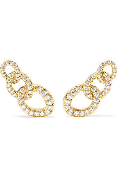 Jemma Wynne - 18-karat Gold Diamond Earrings