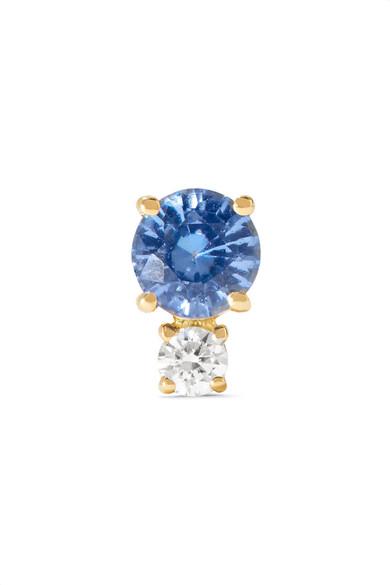 18-karat Gold, Sapphire And Diamond Earring - one size Jemma Wynne